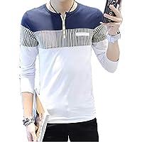 [ Smaids x Smile (スマイズ スマイル) ] Tシャツ トップス ロンT ボタン 無地 デザイン 長袖 配色 カジュアル メンズ