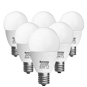 ボンコシ LED電球 E17口金 50W形相当 420lm 省エネ90% 昼光色相当(6W)6000K 広配光タイプ 6個パック