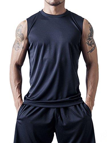 ティーシャツドットエスティー Tシャツ ドライ ノースリーブ 無地 薄手 3.4oz メンズ ブラック M