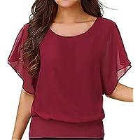 Tシャツ 大きいサイズ Duglo ドルマンスリーブ 無地 シンプル 夏 ブラウス 女性 セクシー 半袖 春 レディース 丸首 おしゃれ 可愛い きれいめ 上着 トップス 快適