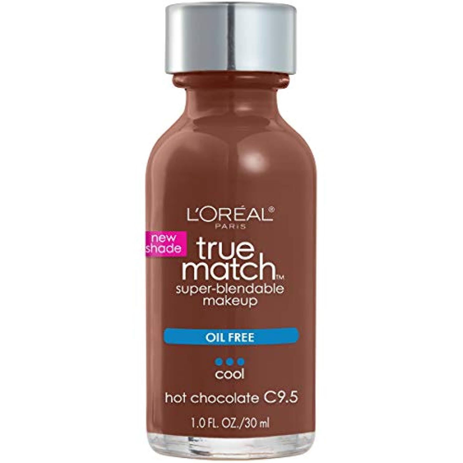 罪悪感攻撃ディレイL'Oréal True Match Super-Blendable Foundation Makeup (HOT CHOCOLATE)