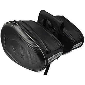 5a6a6b037a27 ALI-MC バイク 大容量 ツーリングバッグ サイドバッグ 上質 リュックサック バッグ 左右セット ブラック
