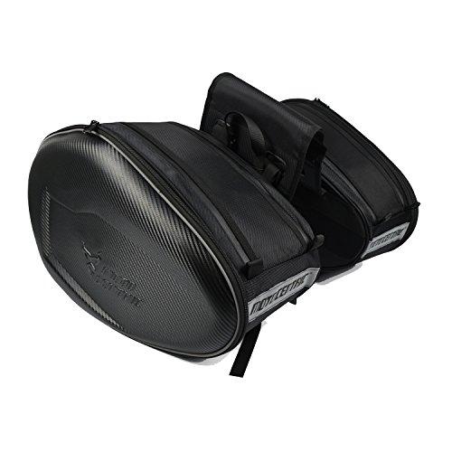 ALI-MC バイク 大容量 ツーリングバッグ サイドバッグ 上質 リュックサック バッグ 左右セット ブラック
