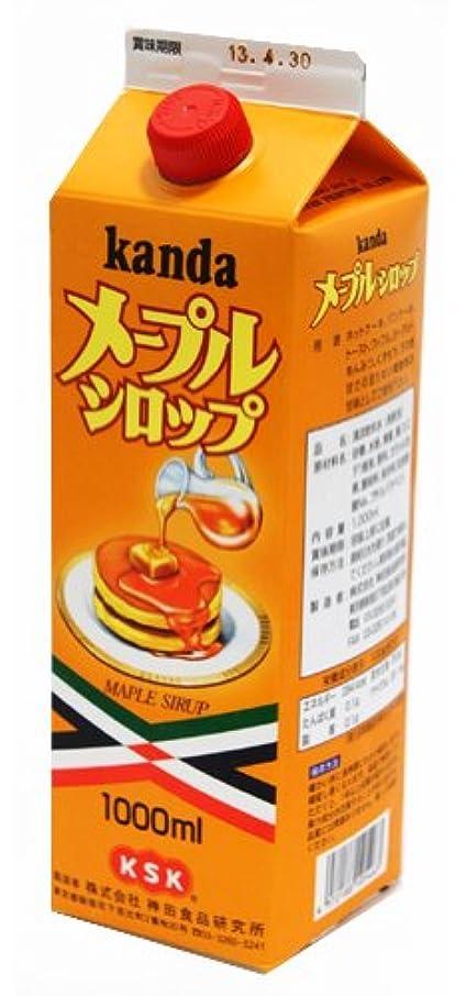 不十分な混沌確率神田食品研究所 メープルシロップ 1000ml