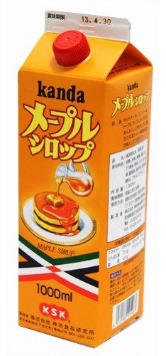 神田食品研究所 メープルシロップ 1L