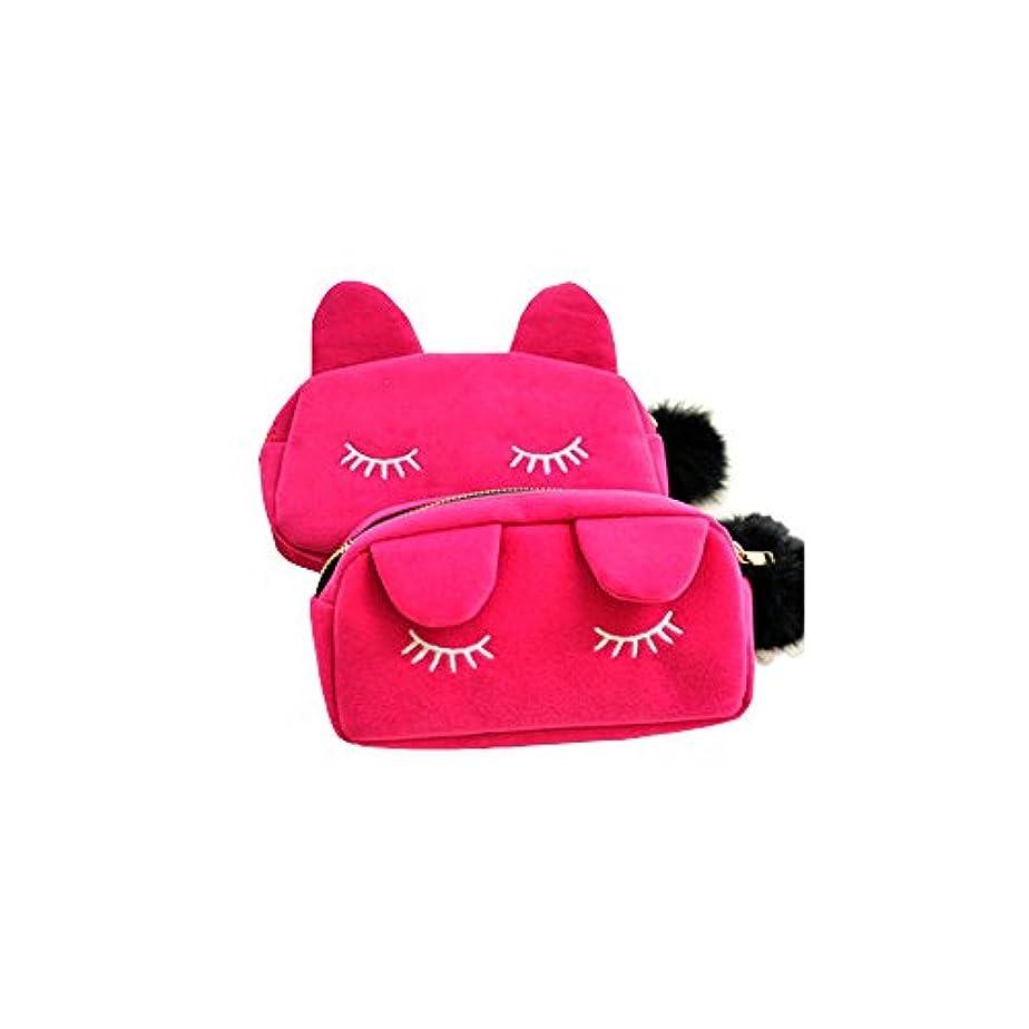 にゃんこ 猫 化粧道具大容量 化粧品バッグ 化粧品収納バッグ ハンドバッグ 可愛い小物収納 コインポーチ マスホポーチ 女子中学生 女子高校生 に 人気 お手入れ道具入り