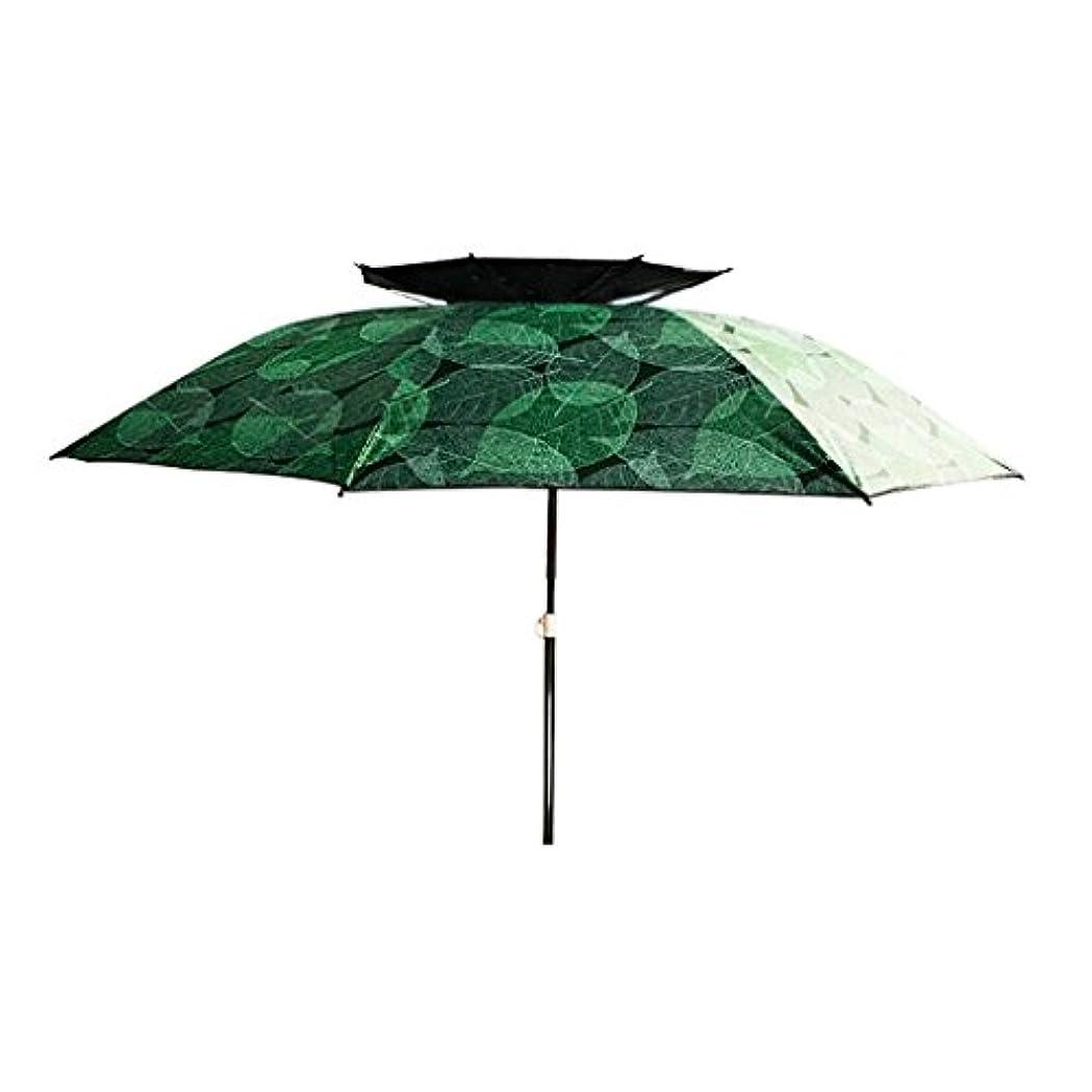 喜劇ロマンス男らしいLSS 屋外アンブレラ|釣り傘|傘| 2.2/2.4メートル|ダブル|ユニバーサル|崩壊|レインコート|サンスクリーン| UVプロテクション|アウトドアフィッシングタックル (色 : B, サイズ さいず : 200cm)