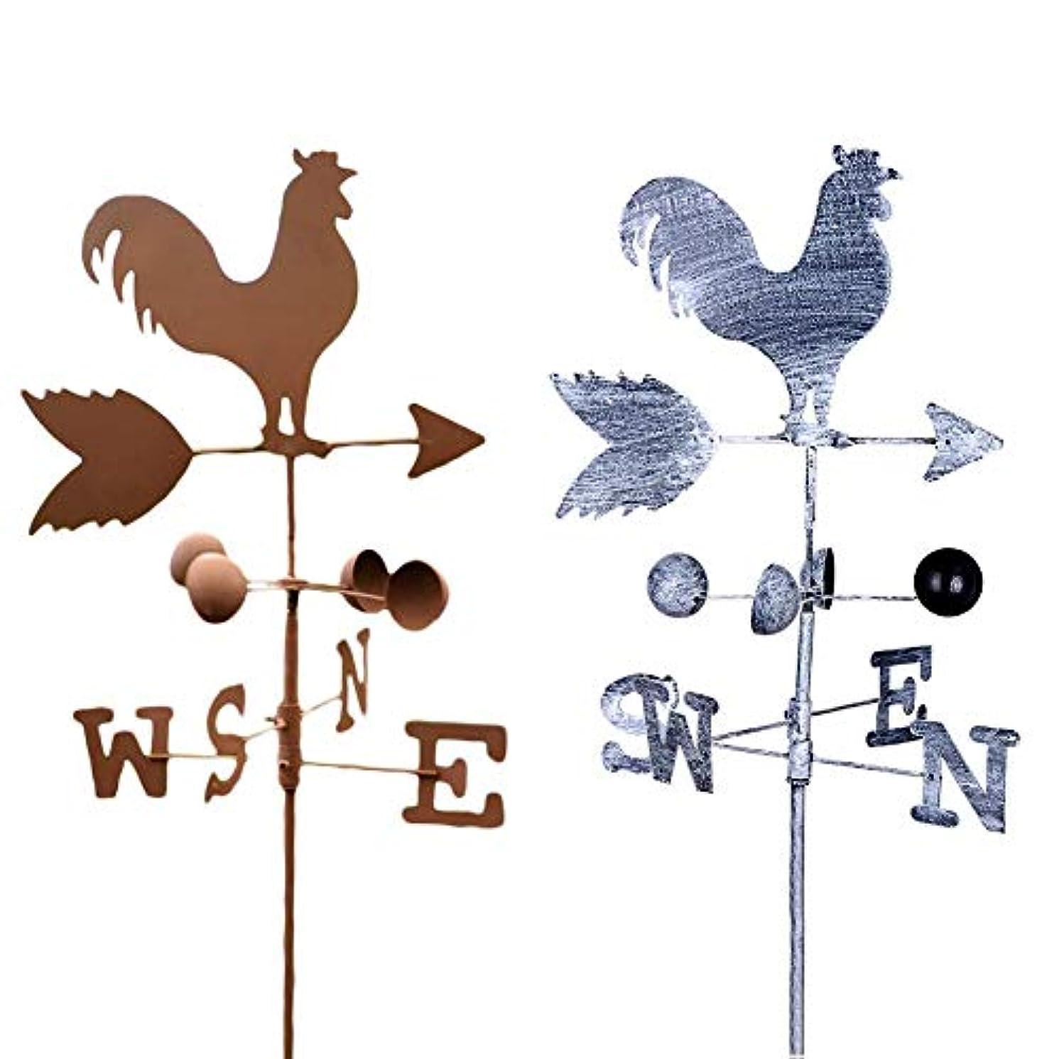 記録懐教科書レトロスタイル、ゴールデンチキン形状、風見鶏、金属鉄、風速微調整、方向表示器、庭の装飾品、装飾、パティオ、120 cm