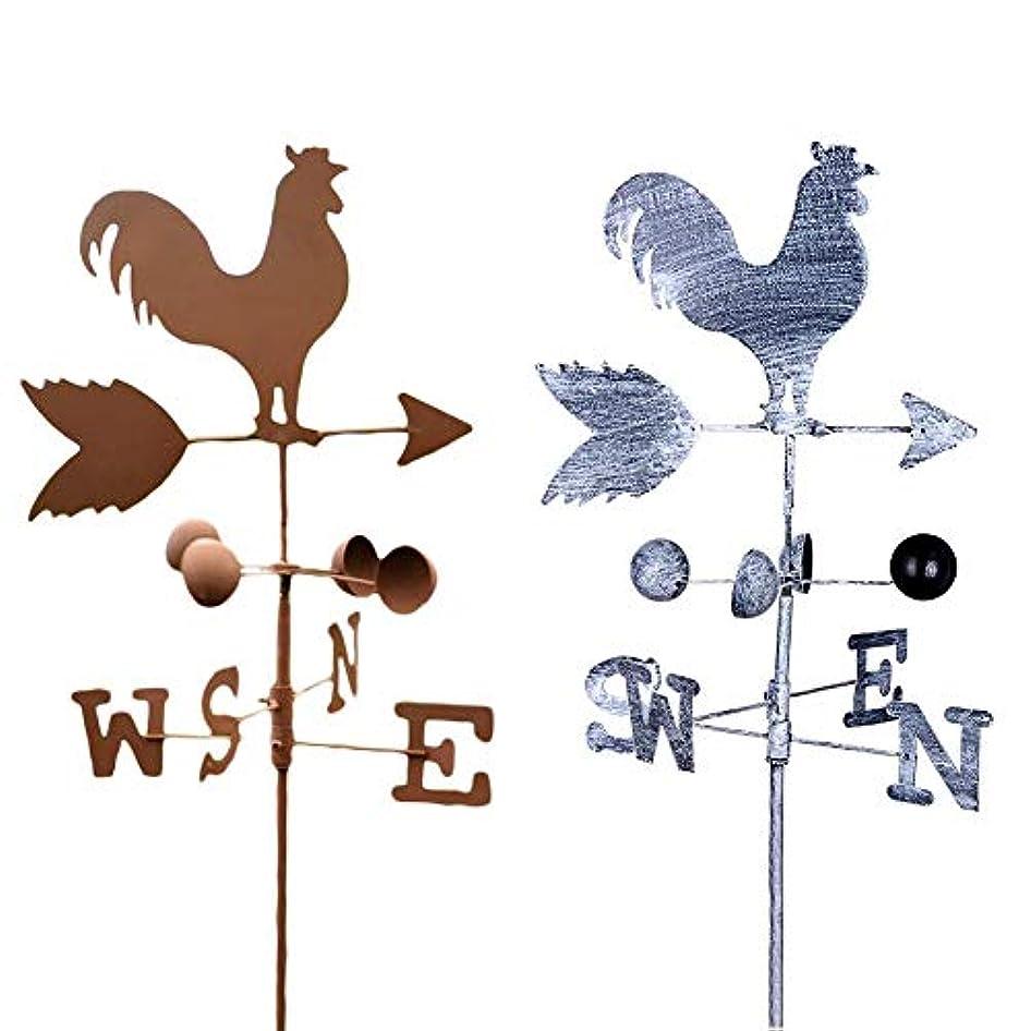 天使コードレス弁護人レトロスタイル、ゴールデンチキン形状、風見鶏、金属鉄、風速微調整、方向表示器、庭の装飾品、装飾、パティオ、120 cm