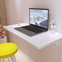 LQQGXLポータブル折りたたみテーブル コンピュータテーブル 折りたたみテーブル ダイニングテーブル デスクフローティングウォールフレーム 100*30cm