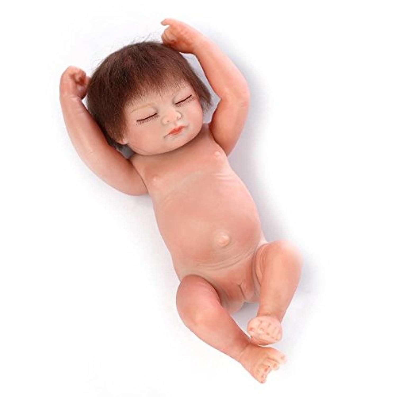 NPK 10インチMini Realistic Rebornベビー人形ガールフルシリコンCollectible新生児赤ちゃん人形子供誕生日クリスマスギフト