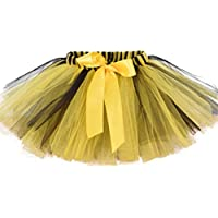 PRETYZOOM Ballerina Girls Dress-Up Princess Fairy Short Tulle Petticoat Ballet Bubble Tutu Ballerina Bee Costume for Girls S