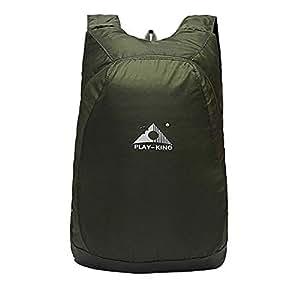 1stモール 折畳み式 半端ない エコリュック ライトグリーン 大迫力 超軽量 リュックサック 20L バッグ 旅行 収納 防水 ST-HANPAECO-LG