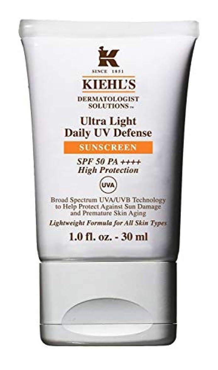 傷跡フック先例Kiehl's(キールズ) キールズ UVディフェンス 30mL / KIEHL'S Ultra Light Daily UV Defense Sunscreen SPF 50 PA++++
