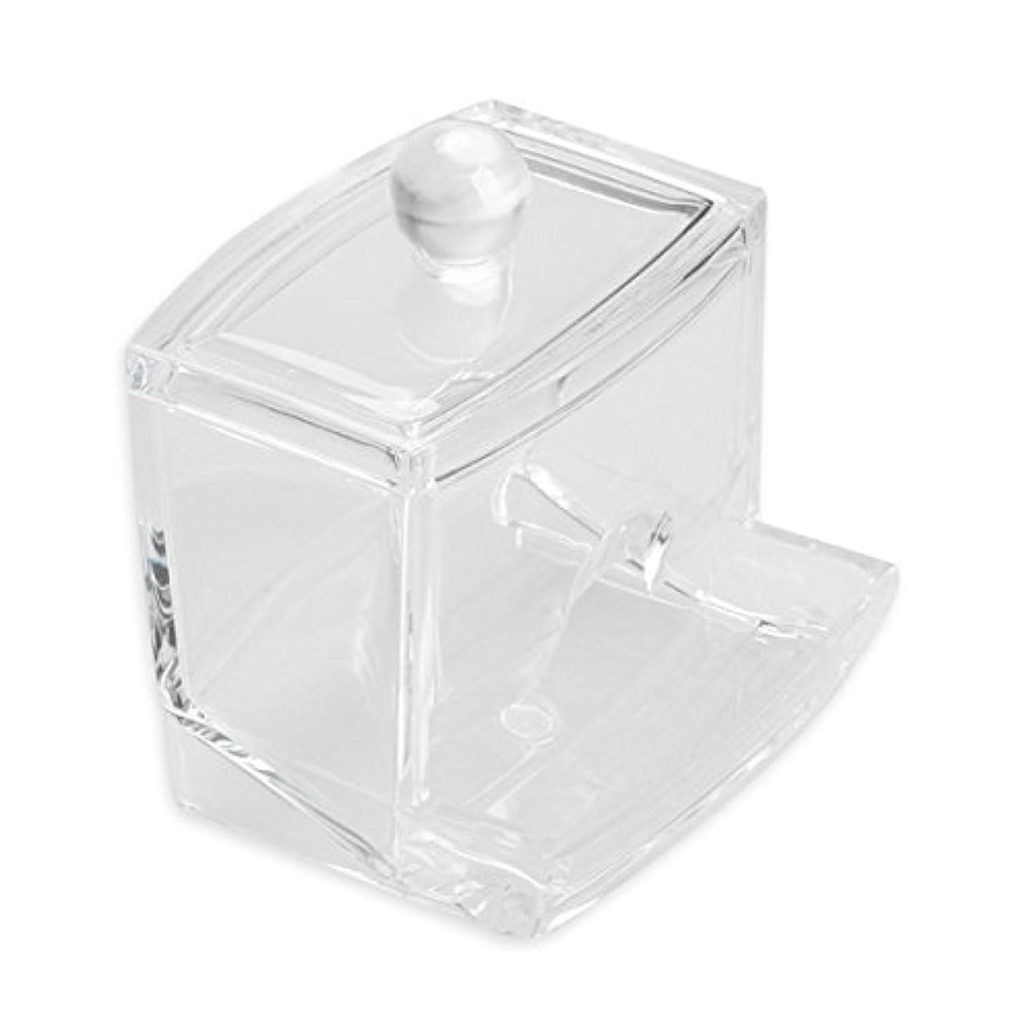 送る着実にピーブxlp コットン収納ボックス 透明 コットンスティック メイクボックス 綿棒収納ボックス 多機能 小物入れ クリア アクリル