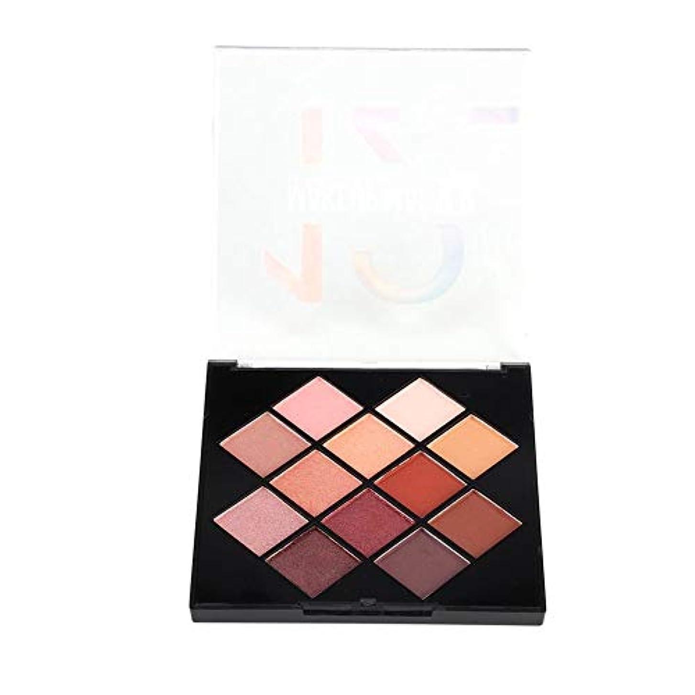 ホットラフト野望アイシャドウパレット 化粧マット 12色 化粧品ツール グロス アイシャドウパウダー (01)