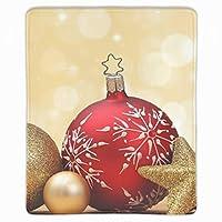 マウスパッド 滑り止め 天然ゴム 長方形 クリスマスゴールデンスター