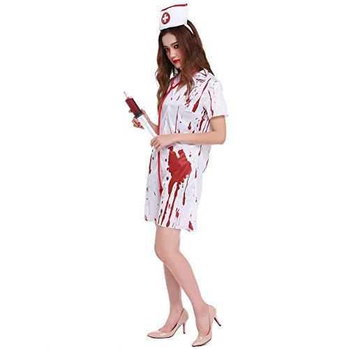 Jocolate(ジョコレート) ハロウィン ナース服 ゾンビ 看護婦 コスプレ ナース コスチューム コスプレセクシー 制服 ミニスカ 医者 女医 衣装 仮装 白衣
