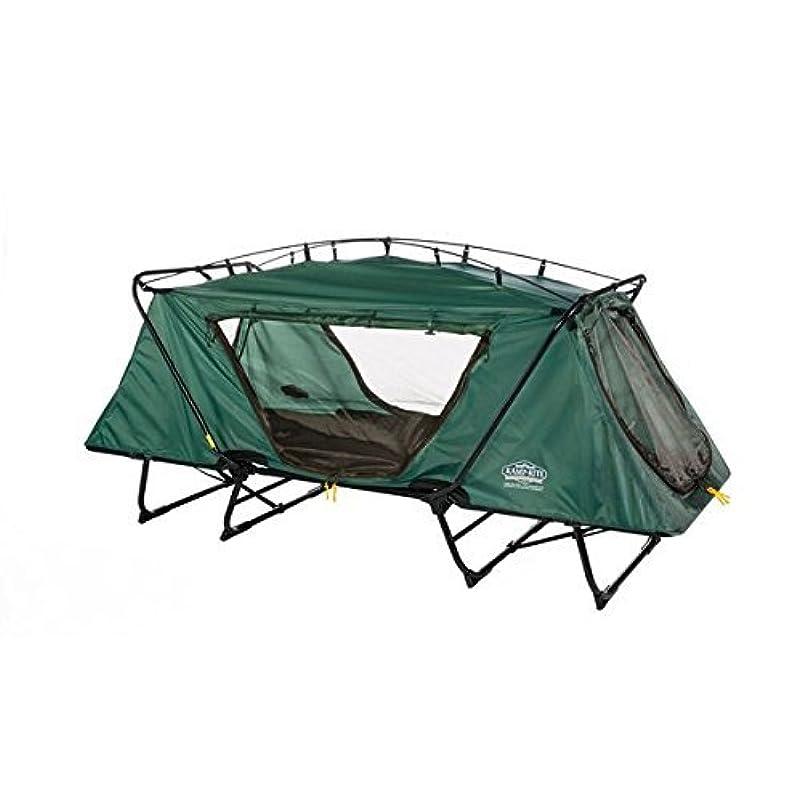 コイルアラスカ手首Kamprite DTC-443 三つ折り 特大テントコット レインフライ付き キャリーバッグ付き グリーン Kamp-Rite製