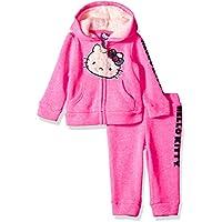 Hello Kitty Girls' Baby 2 Piece Hooded Fleece Active Set