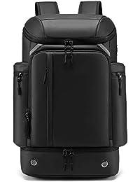 SUNOGE リュック メンズ リュックサック スクエア バックパック 大容量 ビジネスリュック 防水 15.6インチ PC ラップトップバック USB充電ポート 盗難防止 保冷 黒 40L 軽量 撥水加工 出張 旅行 通学 通勤 アウトドア