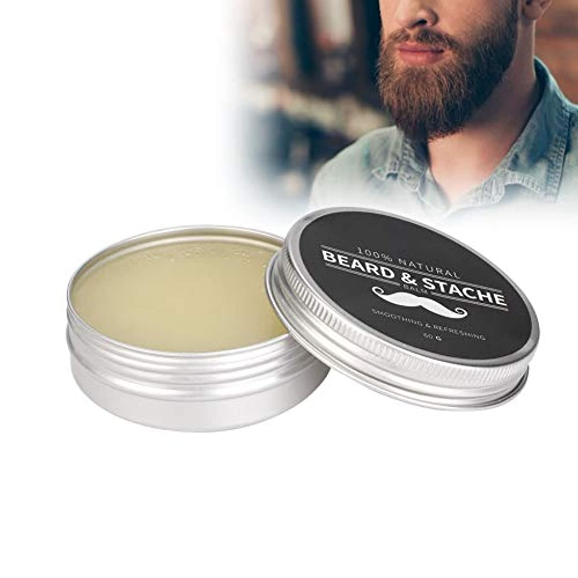 めまいがではごきげんようエレガントひげのワックス、保湿となめらかな柔軟剤口ひげのケアクリームは使用する男性のための分岐とひげの損失を防ぐのに役立ちます