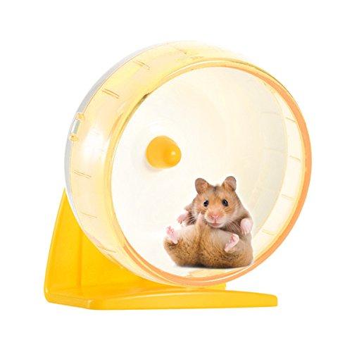 SUPERMOOM 回し車 ハムスター回し車 サイレントホイール ランニング ホイール ペット用品 小動物玩具 (黄)