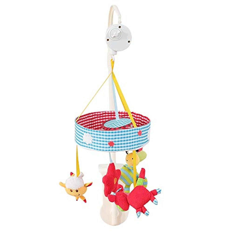 Firlar ベッドメリー 赤ちゃんおもちゃ ベッドベル 可愛い動物 柔らかい ぬいぐるみ 安心素材 メロディ 音楽回転 睡眠サポート 吊り掛け 幼児?ベビー用寝具