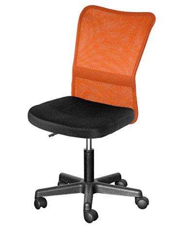 (OSJ)オフィスチェア チェア メッシュチェア パソコンチェア 椅子 7色 (オレンジ)(MS)
