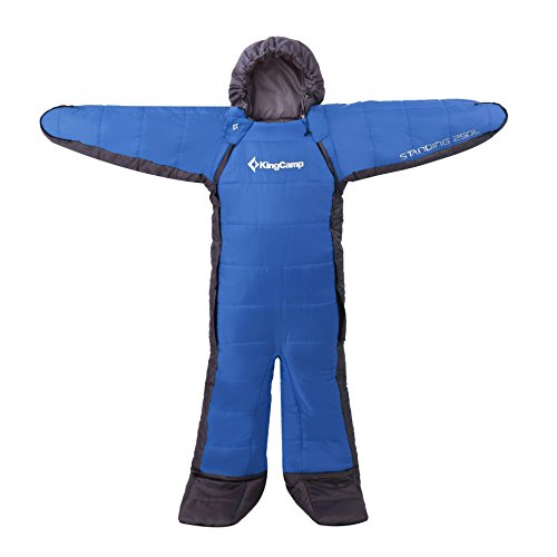 KingCamp(キングキャンプ) 寝袋 シュラフ 人型シュラフ 歩ける寝袋 アウトドア キャンプ 昼休み 男女兼用 最低使用温度-8度