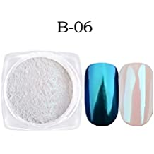 Niome 1g/box Shell Metallic Nail Mirror Powder Glitter Chrome Pigment Dust Manicure Nail Art Decorations