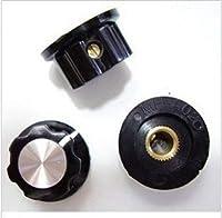 ZhongKiYi(TM) 5pcs A01ベークライトノブ穴6ミリメートル用ロータリーポテンショメータエンコーダロータリースイッチ