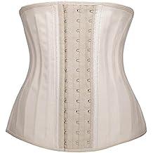 YIANNA Women's Underbust Latex Sport Girdle Waist Training Corset Hourglass Body Shaper