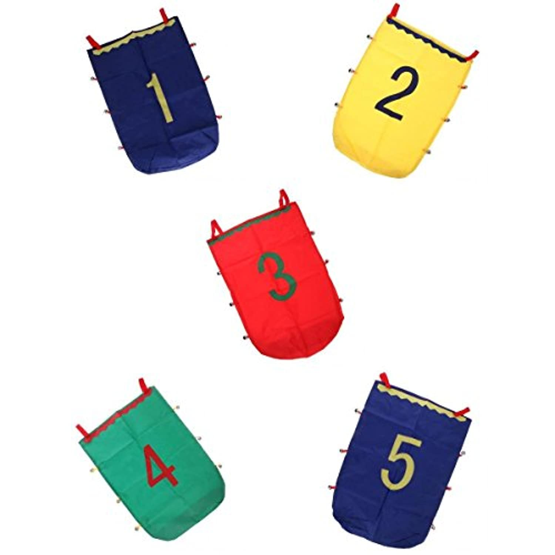 SONONIA 50x70cm ジャンプ袋 おもちゃ レースバッグ バランス トレーニングツール 屋外スポーツ 全5個