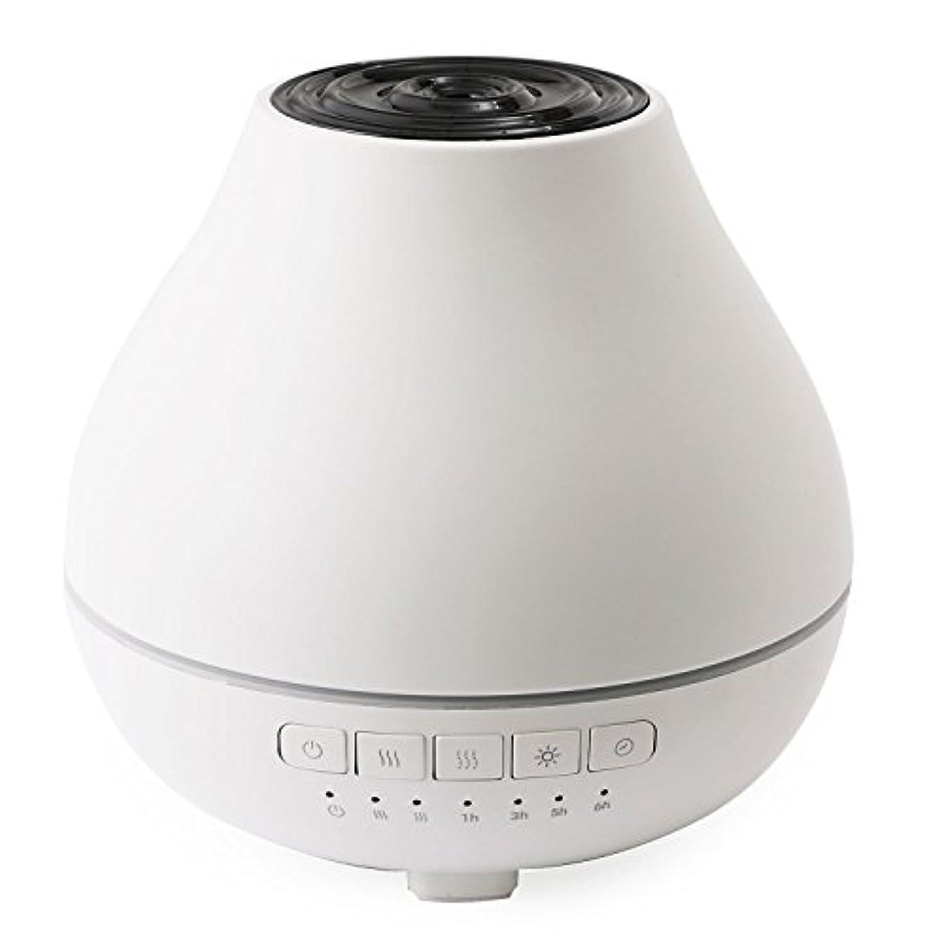 はっきりしない義務的イタリックboltz アロマディフューザー アロマバーナー 超音波 ミスト 3色LEDライト タイマー機能 ホワイト
