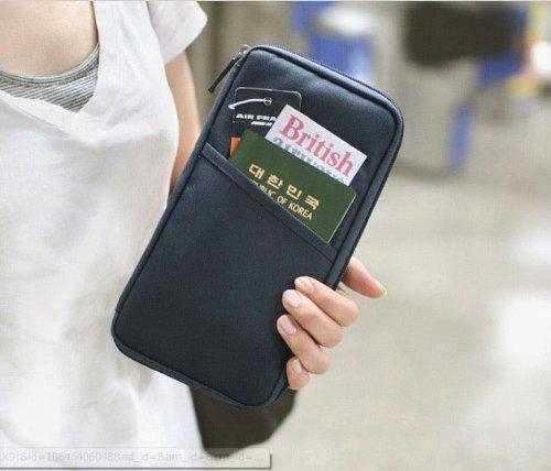【パスポートケース】 トラベルグッズ 便利グッズ 黒【9701】