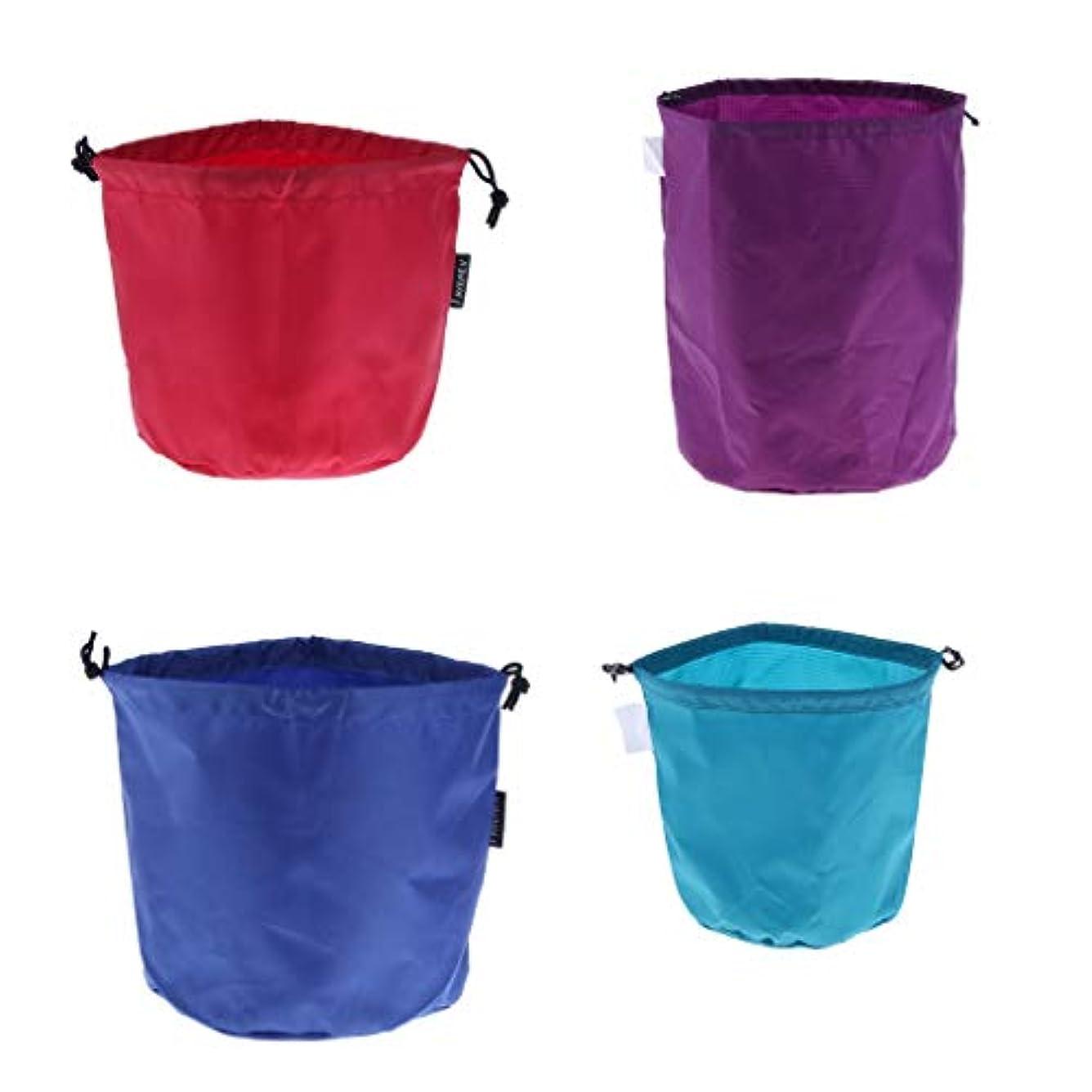 会計士経験的付添人Baoblaze 4個 キャンピング 食器 ポット収納袋 巾着バッグ