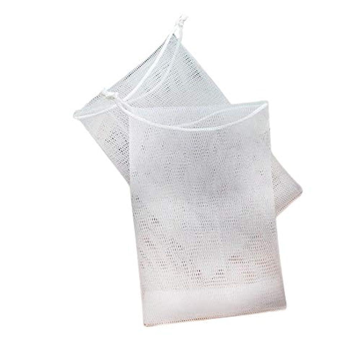 石鹸の袋の網のドローストリング袋は ハンドメイドの石鹸の泡泡ネットメーカーのために掛けることができます 12×9cm