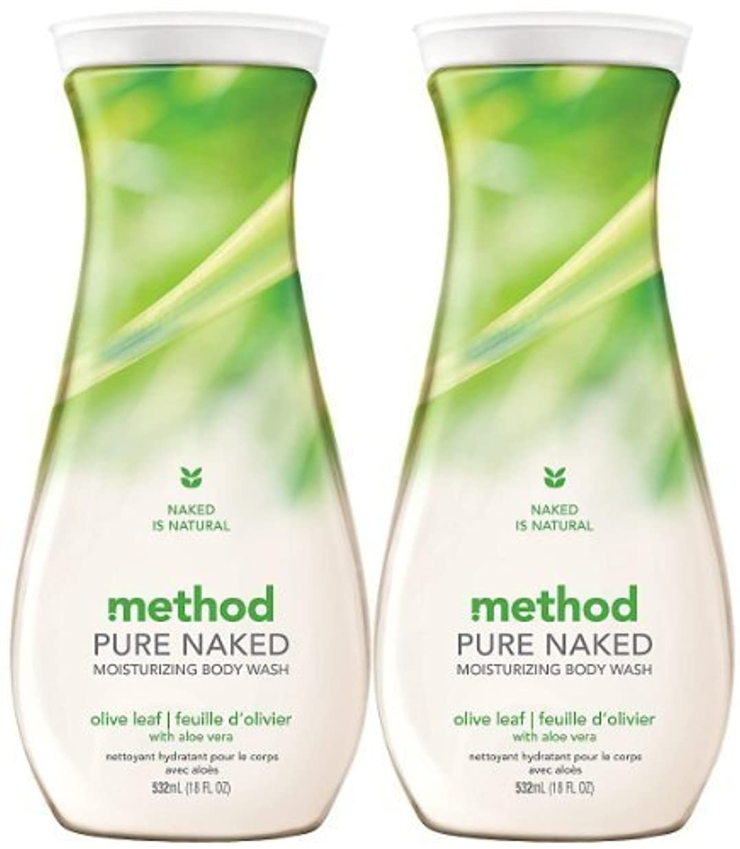 農学関係するはがきMethod Moisturizing Body Wash, Olive Leaf, 18 oz, 2 pk by Method [並行輸入品]