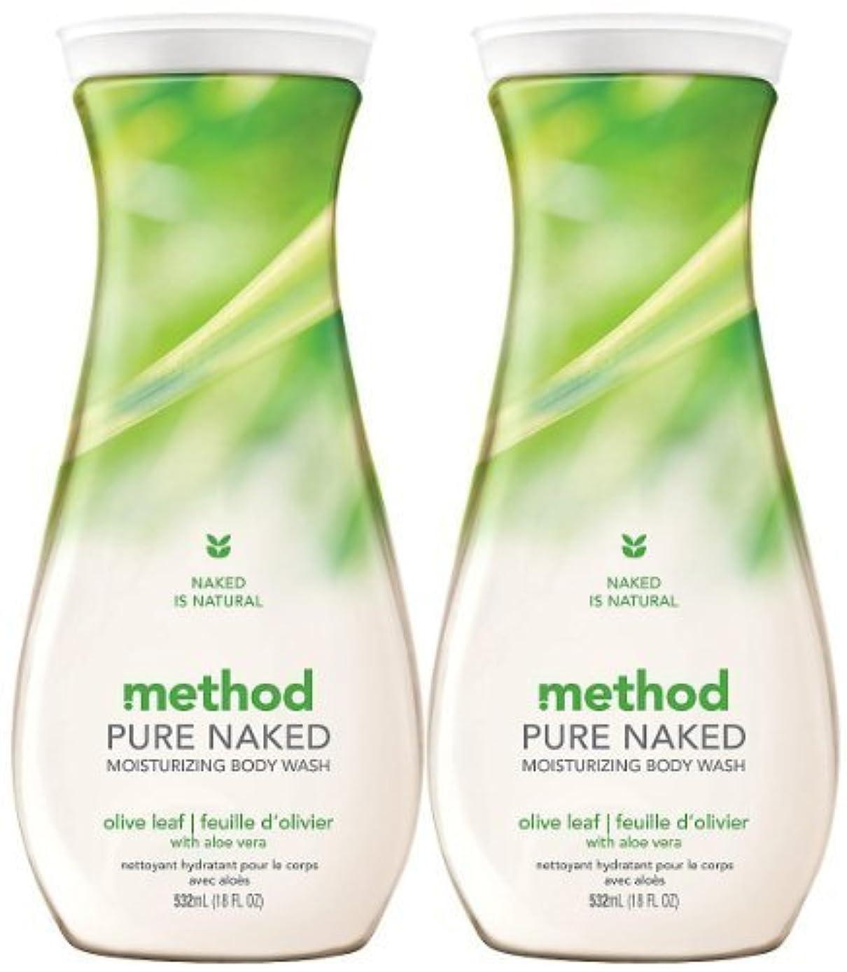 幸運なことに汚染された件名Method Moisturizing Body Wash, Olive Leaf, 18 oz, 2 pk by Method [並行輸入品]