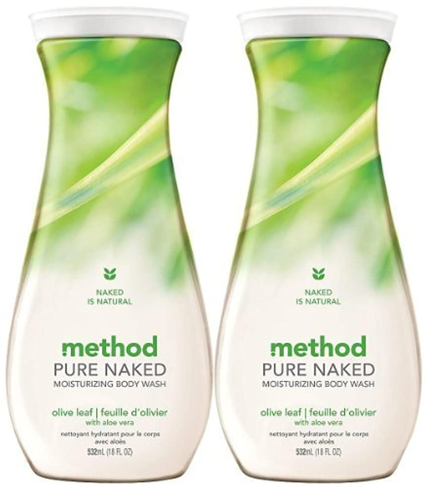 単なる同意ストローMethod Moisturizing Body Wash, Olive Leaf, 18 oz, 2 pk by Method [並行輸入品]