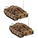 Perfeclan 2pcs 1/32 Scale WW2 Tank Model Jagdpanzer 38(t) Hetzer | Perfect Gift for Kids Boys Army Fans