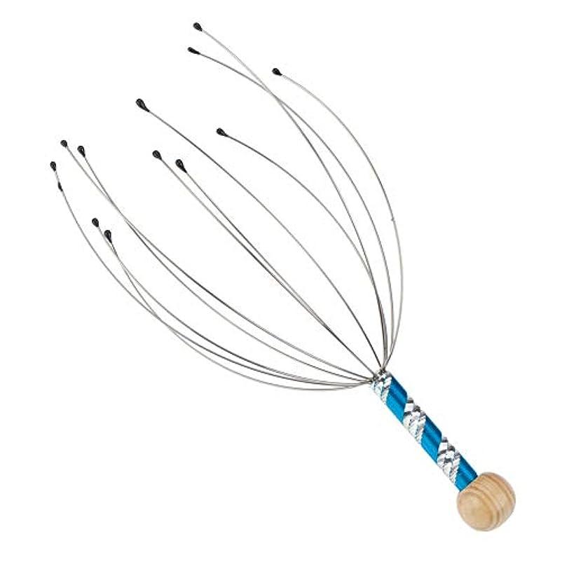 中央値魅力水分ブルーヘアヘッドマッサージアクセプレッシャーリラックス頭皮マッサージツール