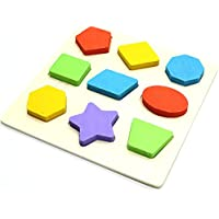 HUELE Preschool Shape Wooden Puzzle