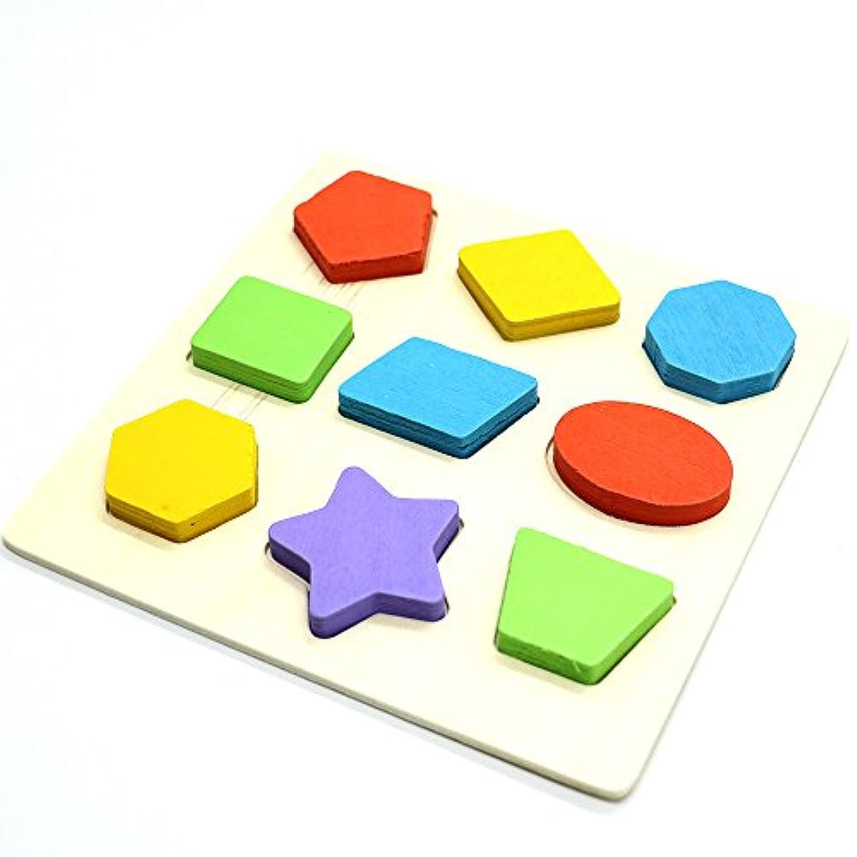 HUELE Preschool Shape Wooden Puzzle