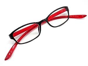 おしゃれ 首に掛けられる 老眼鏡 シニアグラス 軽量 超弾性素材 +1.00 〜 +3.00 (レッド+1.5)