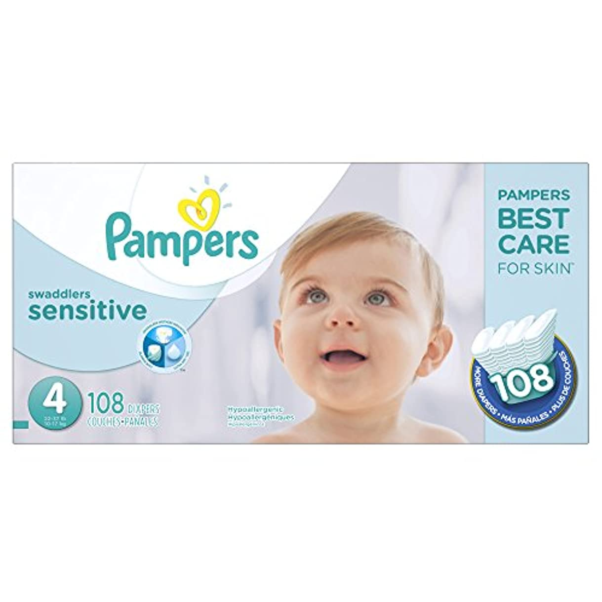 Pampers Swaddlers Sensitive Diapers Size 4 108 Count by Pampers