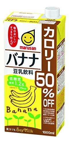 マルサン 豆乳飲料 バナナ カロリー50%オフ 1L ×6本