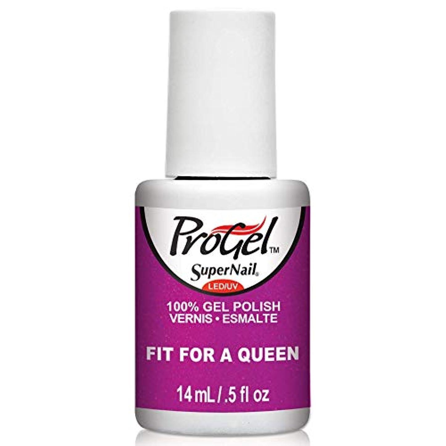 愛するステンレス背が高いSuperNail ProGel Gel Polish - Fit for a Queen - 0.5oz / 14ml