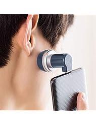 メンズ 電気 シェーバー 髭剃り 回転式 ミニ 電動ひげそり 携帯電話/USB充電式 持ち運び便利 ビジネス 海外対応 type-c/USB/lightningポート (鉱石ブルー, Type-C)